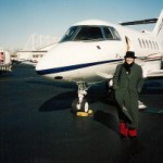 Me in front of the private plane.  Photo by Frank McCourt