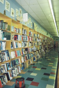 The interior of Title Wave bookstores