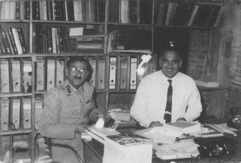 Qasim al-Rajab (1919-1974), on Right, the Sheihk of Booksellers