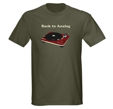 back to analog tshirt