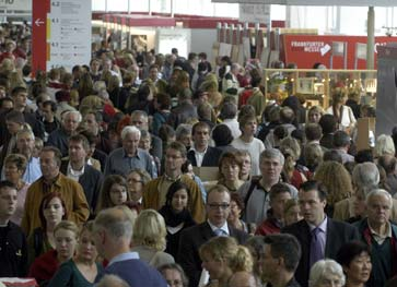 crowds at the Frankfurt Book Fair, 2010