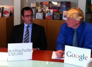 Arnaud Noury of Hachette with Dan Clancy of Google Editions