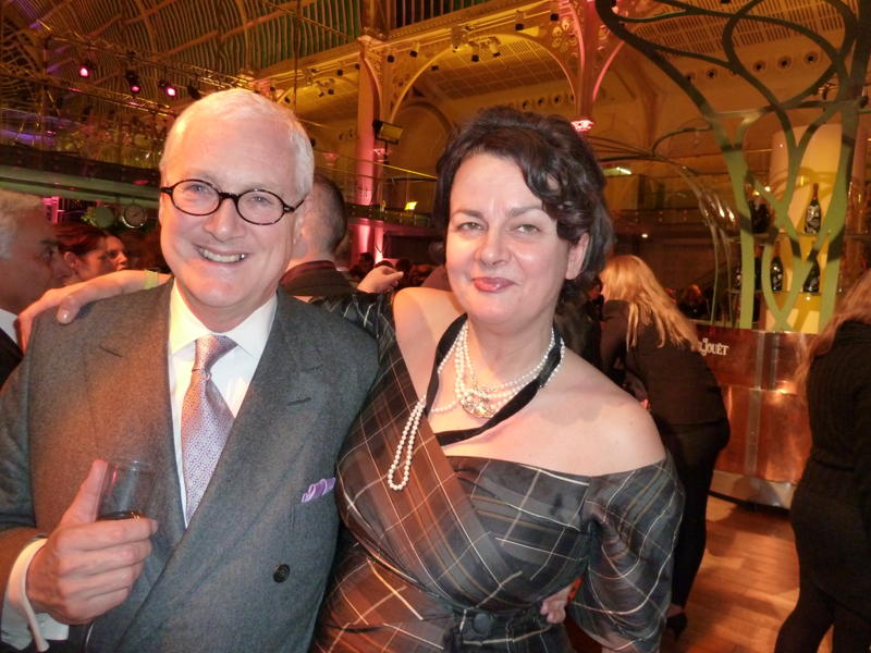 David Young and Agent Clare Conville, pictured in 2011.