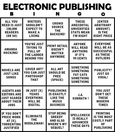 Electronic Publishing Bingo