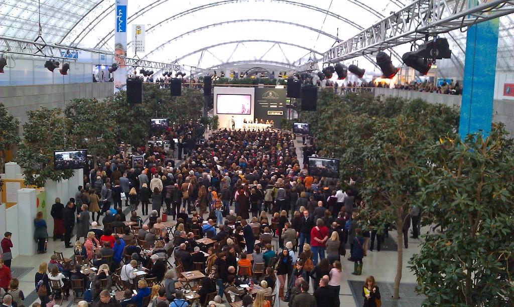 crowd at Leipzig Book Fair