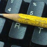 pencil on a keyboard