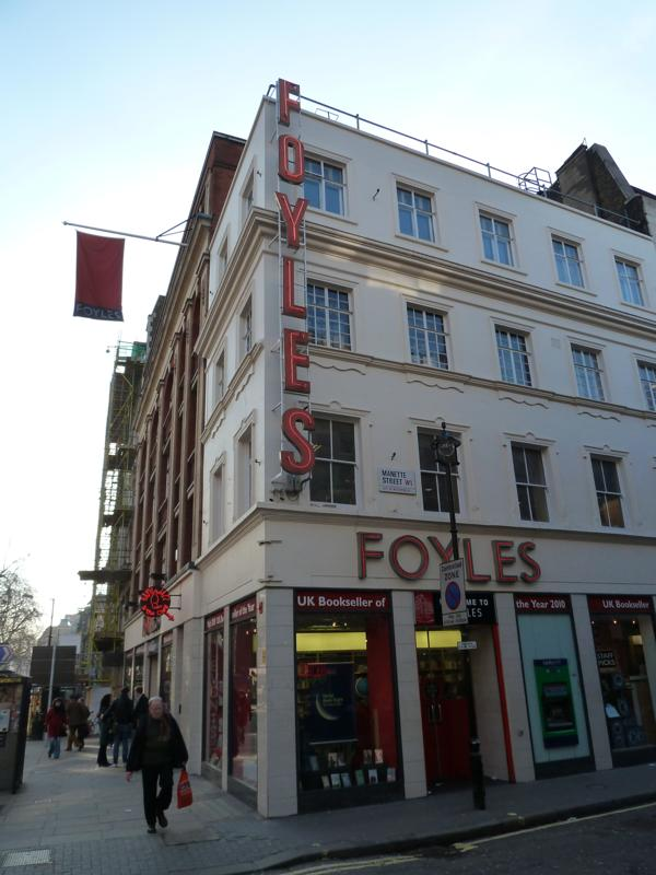 Foyles on Charing Cross Road in London