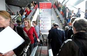 Visitors at the Frankfurt Book Fair
