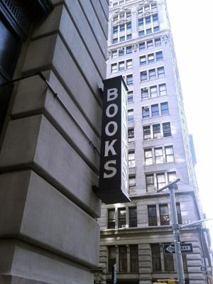 books bookstore sign