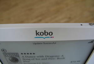 Kobo logo on Touch eReader