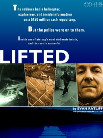 The cover of Evan Ratliff's Atavist Original Lifted