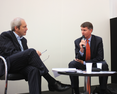 On the Frankfurt Sparks Stage in 2011: Nigel Roby, The Bookseller in conversation with Brian Murray, CEO of HarperCollins US