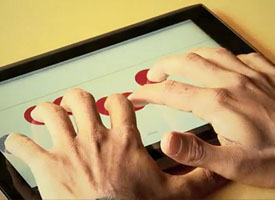 blind touch screen