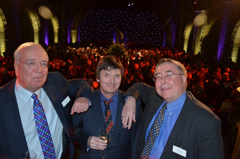 (l to r) Peter Roche (Orion CEO), Ian Rankin, Malcolm Edwards (Orion Deputy CEO) 1