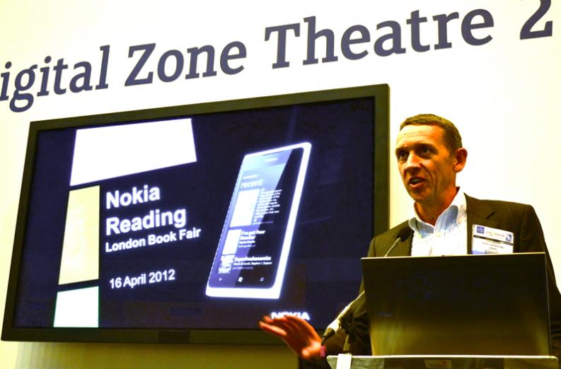 John Mason of Nokia Reading speaks at the London Book Fair 2013