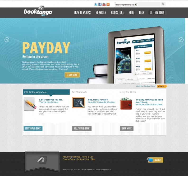 Booktango home page