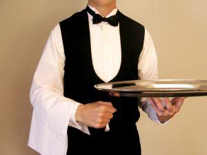 waiter service platform tray