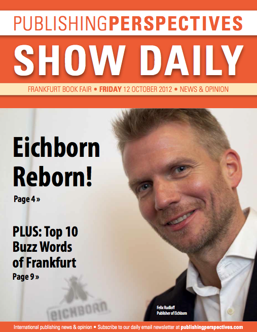 Frankfurt Show Daily cover Friday 12 October 2012