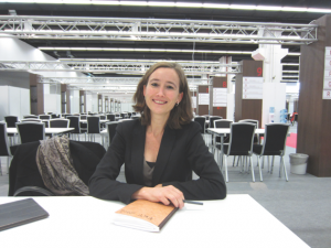 Anna Soler-Pont of Pontas Agency, pictured here at the Frankfurt Book Fair, says writers are always pleased with the extra money they receive from film rights deals.