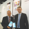 Jim Hilt and ex-European director Patrick Rouvillois  show off Nook devices at the Frankfurt Book Fair 2012. Alas, they never made it to Germany or anywhere else in Europe outside the UK.