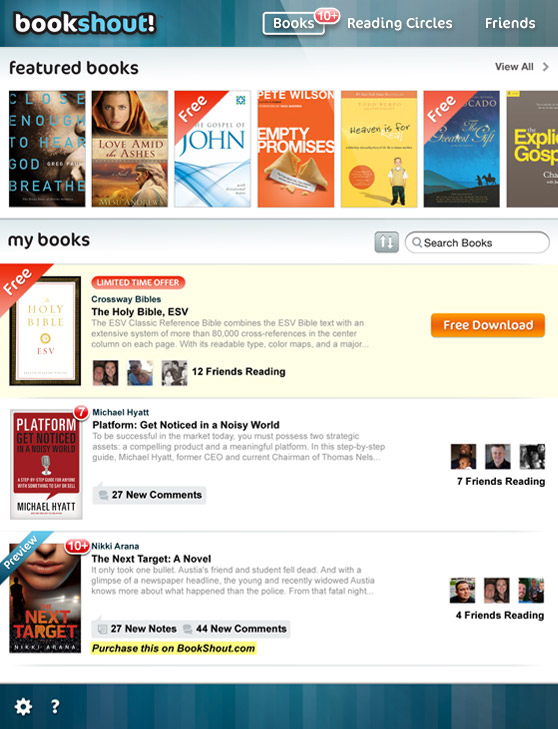 bookshout homepage