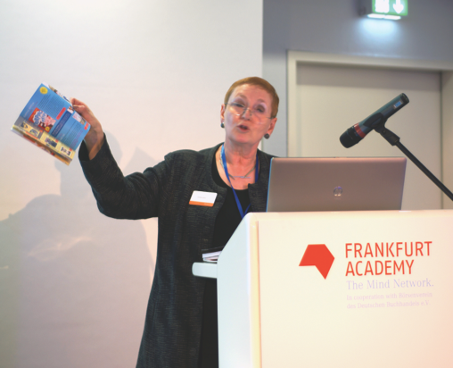 Lynette Owen of Pearson Education speaks in Frankfurt about best practices for selling rights