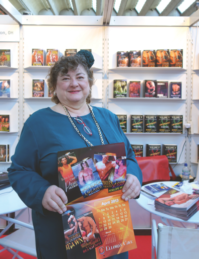 Raelene Gorlinsky, publisher of Ellora's Cave, pictured at the Frankfurt Book Fair.