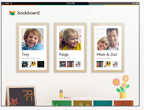 A screenshot of Bookboard