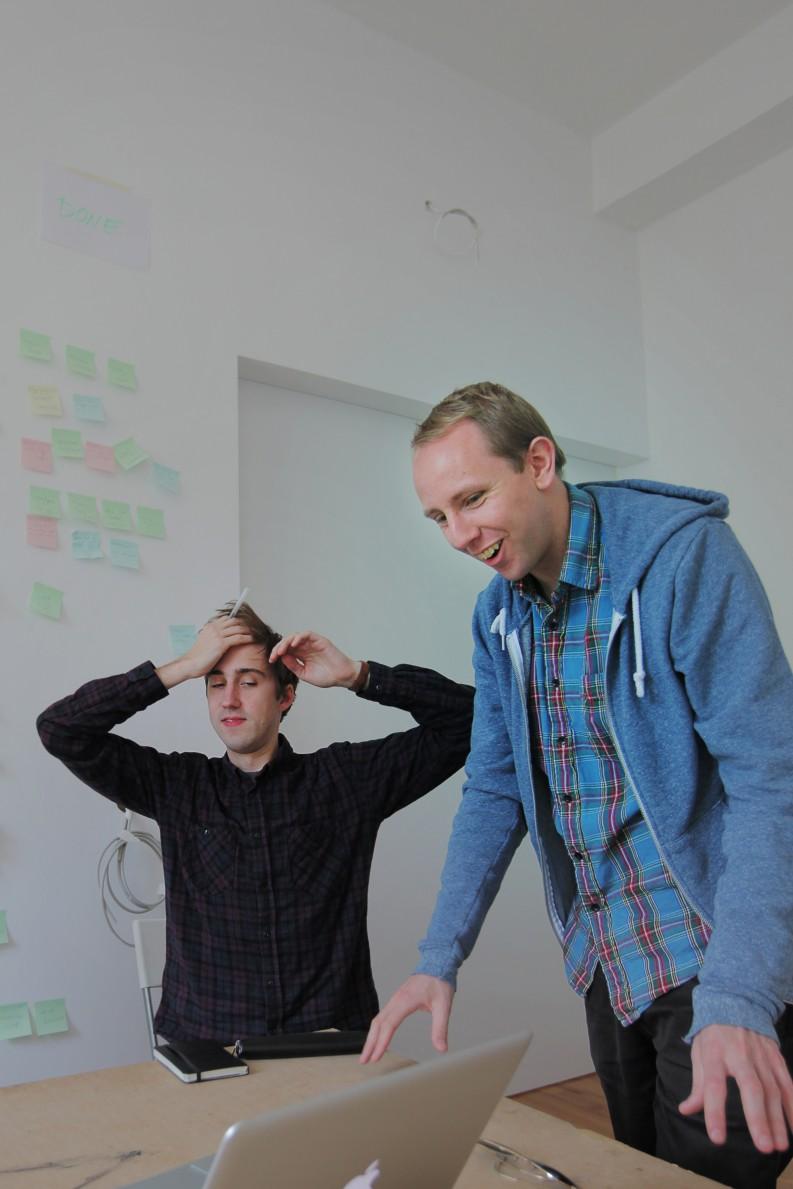Readmill's founders David Kjelkerud & Henrik Berggren