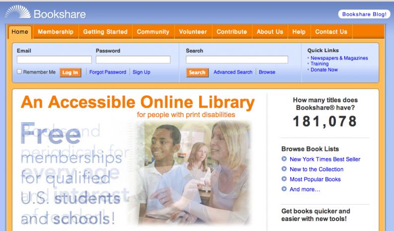 Bookshare Web Site