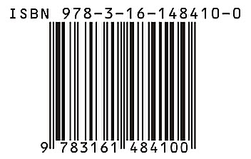 An ISBN code / Wikipedia