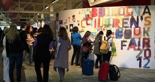 Visitors to the Bologna Book Fair in 2012