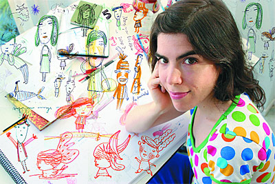 Isol, in addition to being an illustrator and cartoonist, is a well-known musician in her native Argentina.