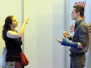 Joanna Penn tapes an interview with Choosing a Self-Publishing Service author Ben Galley at London Book Fair.
