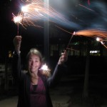 Erin with Sparklers