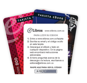E-libros' ebook cards are available to purchase at bookstores nationwide.