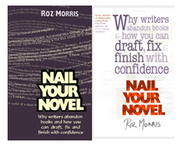 Roz Morris' covers, the original on the left.