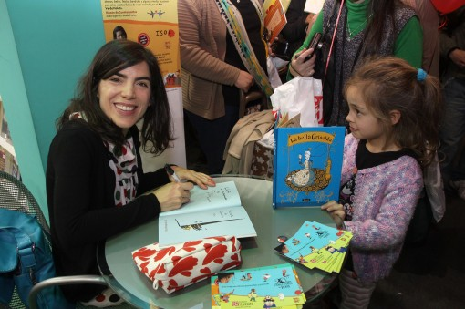 Isol, winner of the Astrid Lindgren Prize, signed books for fans.