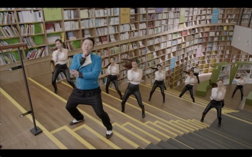 Psy's time may be past, but for a moment brought buzz to Seoul's Metropolitan Library.