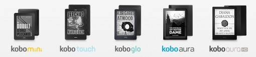 Kobo eReaders, as announced.