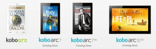 Kobo tablets, as announced