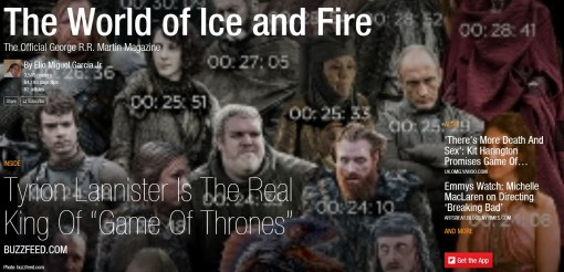 The World of Ice and Fire Magazine Cover