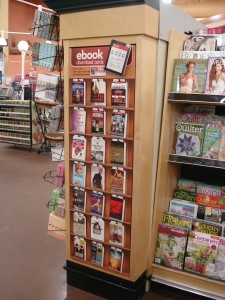 This is the type of retail floor display Enthrill creates for its gift cards in such settings as Walmart.