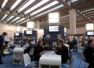 The Wiley Pavilion in Hall 8.0 at Frankfurt Book Fair 2013.