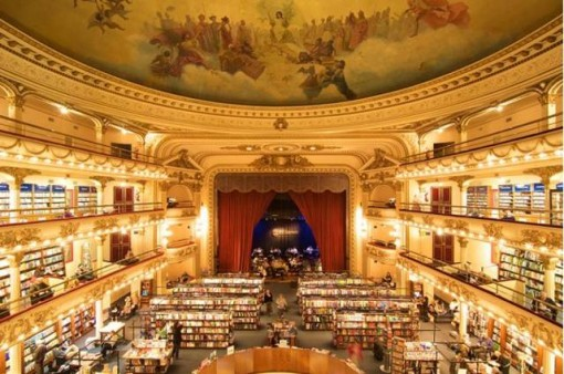 Many consider the El Ateneo Grand Splendid bookstore in Buenos Aires — which is located in a former theater — as one of the most beautiful bookstores in the world.