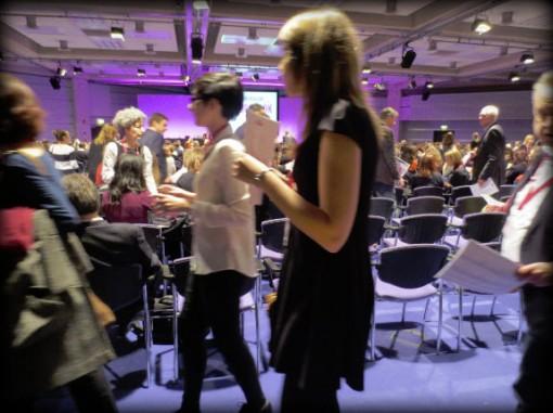 FutureBook delegates enter the Fleming Room 2 PA