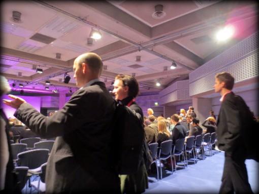 FutureBook delegates enter the Fleming Room PA
