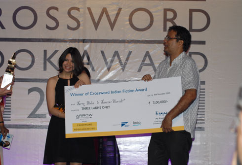 Janice Pariat and Jerry Pinto shared the fiction prize at this year's Crossword Book Awards in India.