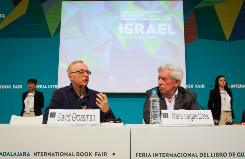 David Grossman and Mario Vargas Llosa engaged in a spirited discussion during the first day of FIL Guadalajara, where Israel is the Guest of Honor.
