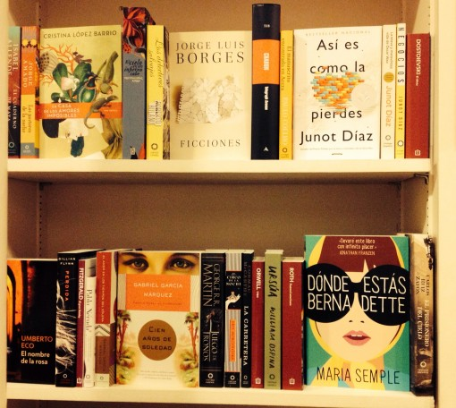 The new Spanish language book section at Brazos Bookstore in Houston
